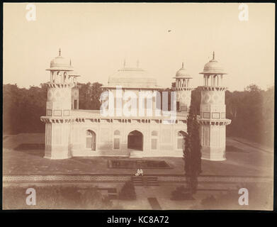 Itmad-Ud-Daulah's Tomb, Agra, 1860s–70s, Albumen silver print from glass negative, 21.3 x 28.0 cm (8 3/8 x 11 in.), - Stock Photo