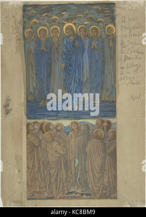 Ascension of Christ (Acts I, 1–9): Study for stained-glass window, Sir Edward Burne-Jones, ca. 1875–84 - Stock Photo