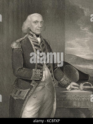 Richard Howe, 1st Earl Howe, 1726-1799 - Stock Photo
