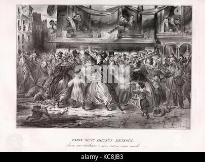 Le Charivari, June 1, 1833–November 30, 1833, Honoré Daumier, June 1, 1833–November 30, 1833 - Stock Photo