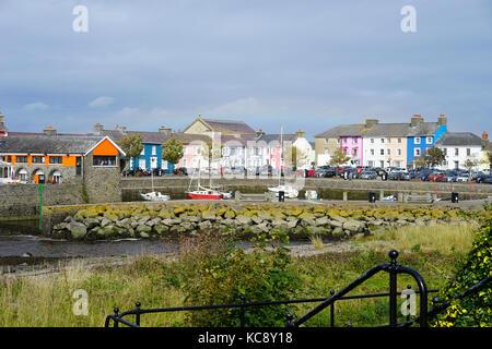 Aberaeron harbour,Aberaeron, West Wales, UK - Stock Photo