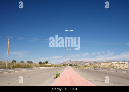 Quiet road with no traffic - Stock Photo