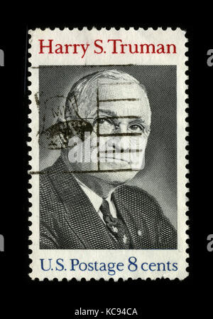 USA - CIRCA 1980: A stamp printed in USA shows image portrait Harry S. Truman (May 8, 1884 – December 26, 1972) - Stock Photo