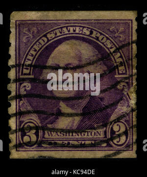 USA - CIRCA 1932: A stamp printed in USA shows image portrait George Washington (1732–1799), was the first president - Stock Photo