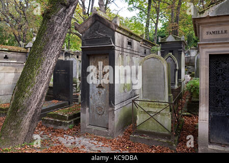The tomb of Blum and Levy in Pere Lachaise cemetery, Paris, France. - Stock Photo