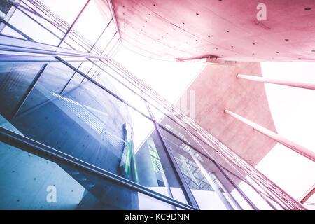 modern building facade, office building exterior - glass facade, corporate building concept - Stock Photo