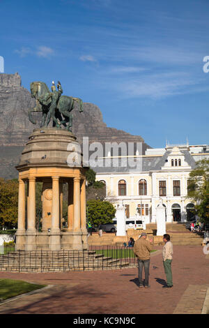 Delville Wood Memorial and Iziko South African Museum, Company's Garden, Cape Town, Western Cape, South Africa - Stock Photo