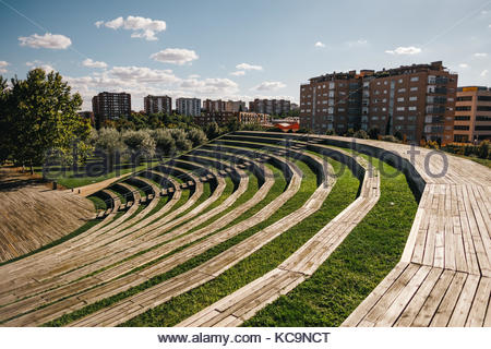 Manzanares Park in Madrid - Stock Photo