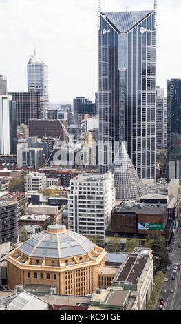 High rise towers in the Central Business District of city of Melbourne, Victoria, Australia. - Stock Photo