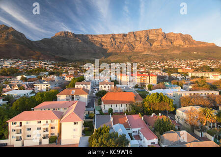 View of Table Mountain, Cape Town, Western Cape, South Africa - Stock Photo
