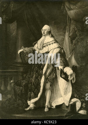 Portrait of Louis XVI king of France, painting by A.F. Callet - Stock Photo