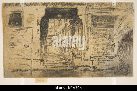 Fish Shop, Venice, 1879–80, Etching and drypoint; fifth state of nine ( Glasgow) with extensive pencil alterations - Stock Photo