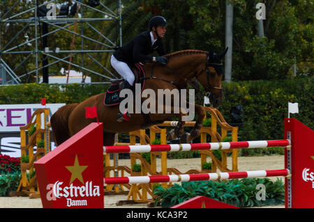 Longines FEI nations cup jumping final, Barcelona - Stock Photo
