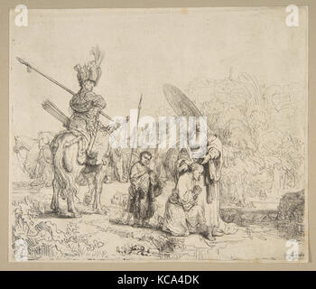 The Baptism of The Eunuch, 1641, Etching, touches of gray wash; second state of two, Prints, Rembrandt (Rembrandt - Stock Photo