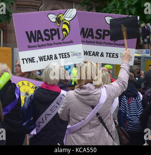 Women Against State Pension Inequality Demonstration - Stock Photo