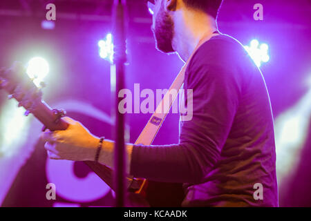 A Jazz Musician Plays guitar  in Cairo jazz festival, Egypt - Stock Photo
