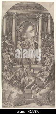 The Marriage of the Virgin, Giovanni Jacopo Caraglio, ca. 1525 - Stock Photo