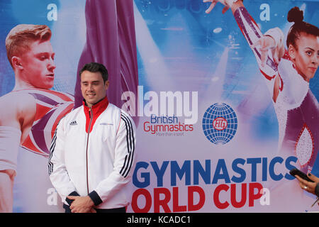 Midlands-based British Gymnastics stars Ellie Downie and Kristian Thomas pictured officially announced that Birmingham - Stock Photo