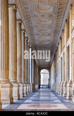 Passage of the roman columns in Rome - Stock Photo