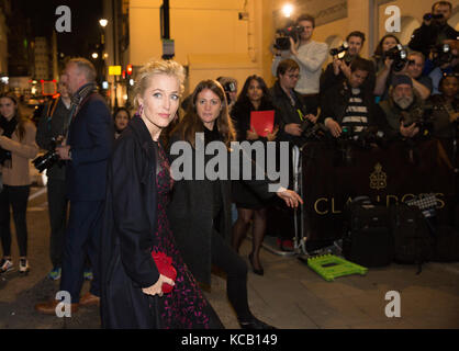 Gillian Anderson at Harper's Women Of The Year Awards 2016 In London - Stock Photo