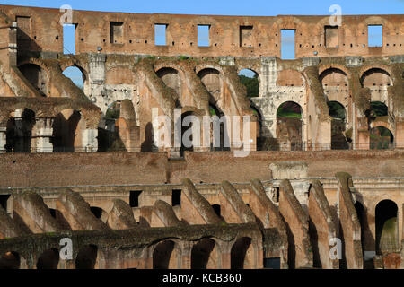 Colosseum is the largest amphitheatre in the world - Stock Photo