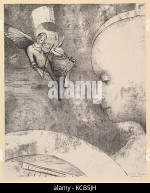 The Celestial Art, 1894, Lithograph, sheet: 16 15/16 x 13 7/8 in. (43 x 35.2 cm), Prints, Odilon Redon (French, - Stock Photo