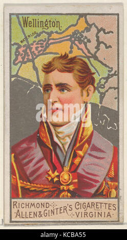 Arthur Wellesley, 1st Duke of Wellington, from the Great Generals series (N15) for Allen & Ginter Cigarettes Brands, - Stock Photo