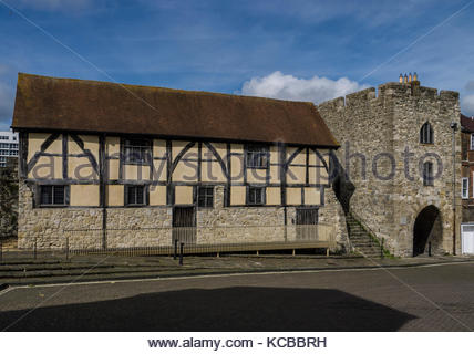 Southampton City Wall Tudor Merchants Hall Hampshire England - Stock Photo