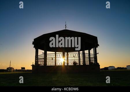 Walmer Memorial Bandstand - Dawn - Stock Photo