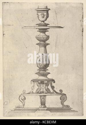 Design for a Candlestick, Jacques Androuet Du Cerceau, 1548–49 - Stock Photo