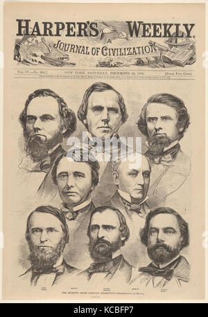 The Seceding South Carolina Delegation Photographed by Brady (from Harper's Weekly, Vol. IV), After Mathew B. Brady - Stock Photo