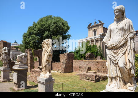 House of the Vestal Virgins, Rome, Italy - Stock Photo
