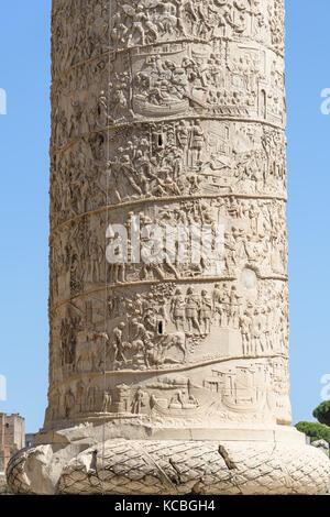 Trajan's Column, Rome, Italy - Stock Photo