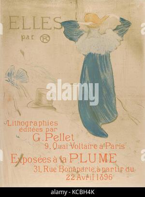 Elles (poster for 1896 exhibition at La Plume), Henri de Toulouse-Lautrec, 1896 - Stock Photo