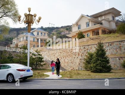 Quality new town housing redevelopment of old coal mine area at Pianqiao in the Wanbailin District 20 km west of - Stock Photo