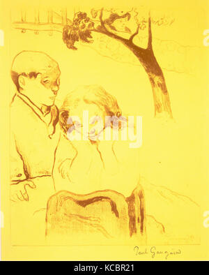 Human Misery, from the Volpini Suite: Dessins lithographiques, Paul Gauguin, 1889 - Stock Photo