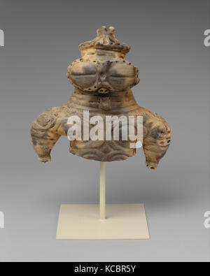 Dogū (Clay Figurine), 土偶, Final Jōmon period (ca. 1000–300 B.C.), 1000–300 BC, Japan, Earthenware with cord-marked - Stock Photo