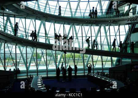 London City Hall, The Queen's Walk, Southwark, London - Stock Photo