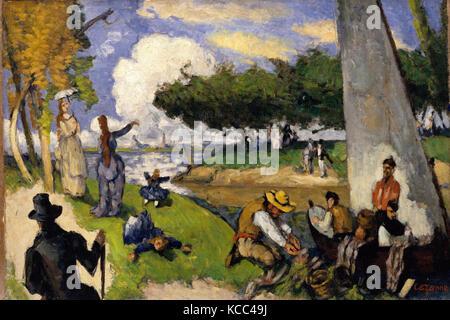The Fishermen (Fantastic Scene), Paul Cézanne, ca. 1875 - Stock Photo