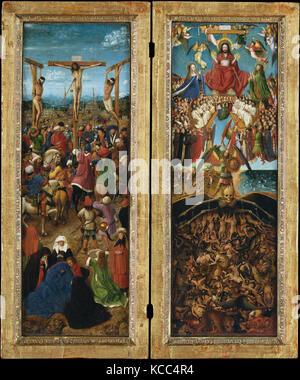 The Crucifixion; The Last Judgment, Jan van Eyck, ca. 1440–41 - Stock Photo