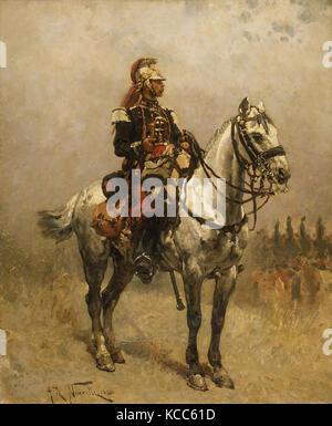 A Cavalryman, Alphonse-Marie-Adolphe de Neuville, 1884 - Stock Photo