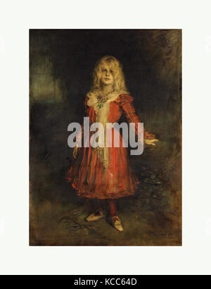Marion Lenbach (1892–1947), the Artist's Daughter, Franz von Lenbach, 1900 - Stock Photo