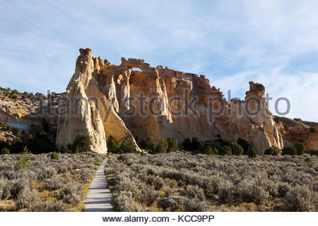 Grosvenor Arch, Grand Staircase-Escalante National Monument, Utah - Stock Photo