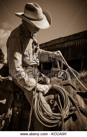 Old Ranch hand - Stock Photo