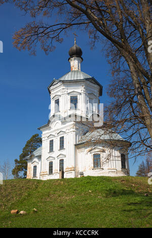 Church of Exaltation of the Cross, Nilov hermitage, Russia - Stock Photo