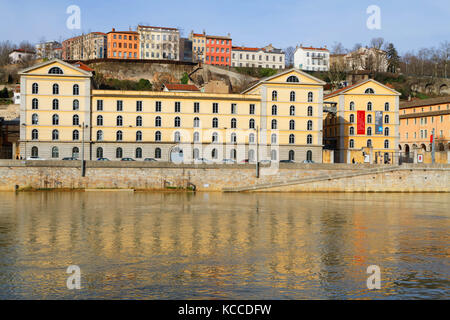 LYON, FRANCE, March 7, 2015 : 'Les Subsistances' is a cultural centre of diffuse artistic production in Lyon. It - Stock Photo