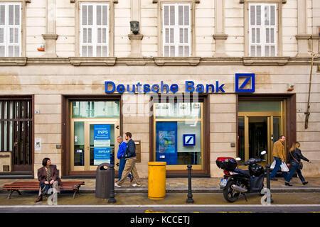 Deutsche bank, Sanremo, Liguria, Italy - Stock Photo