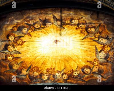 The Baptistery in Santa Maria Maggiore - Rome, Italy - Stock Photo