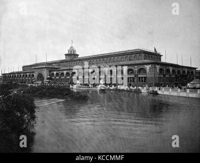 United States of America, Illinois State, Chicago city, buildings at the territory of the World Exposition 1893, - Stock Photo