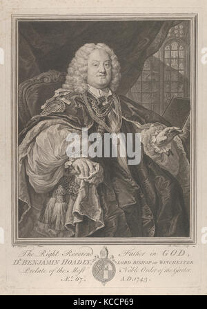 The Right Reverend Father in God, Dr. Benjamin Hoadly, Lord Bishop of Winchester, Prelate of the Most Noble Order - Stock Photo